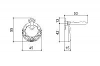 Ручка-серьга 45х57 мм