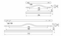 Ручка-скоба 480/416 мм