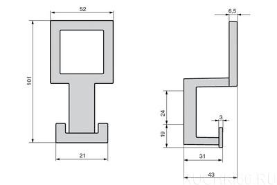 Вешалка для одежды 101х52 мм